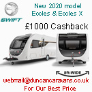 Eccles and Challenger MOdels with £1000 Cash Back
